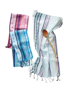 Zahra Set Of 3 Dish Towels by Anthropologie