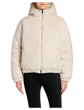 Kolima Reversible Faux Fur Jacket W/ Hood by Moncler