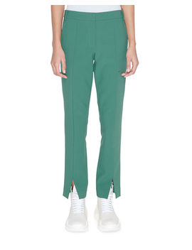 Menswear Stretch Suiting Cropped Pants by Tibi