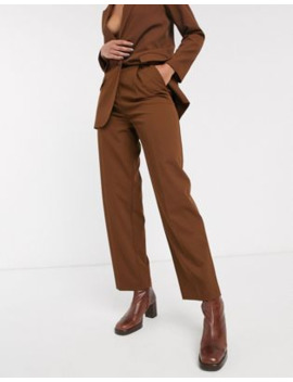 Topshop   Pantalon In Chocoladebruin, Combi Set by Topshop