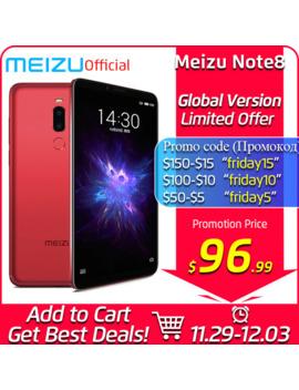 Meizu Note 8 4 Gb 64 Gb Global Version Mobile Phone Snapdragon 632 Octa Core Note8 Smartphone Full Metal Body Dual Rear Camera by Ali Express.Com