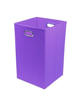 Purple Color Pop Folding Laundry Hamper (Part Number: Brilaun201) by Modern Littles