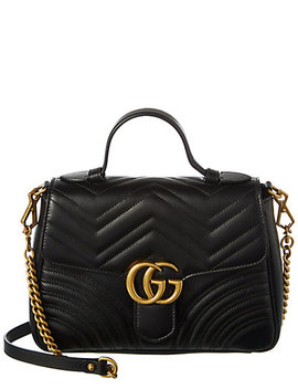 Gucci Gg Marmont Small Leather Top Handle Satchel by Gucci