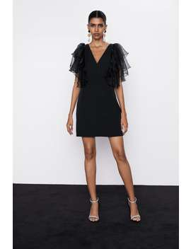 Dress With Organza Sleeves by Zara