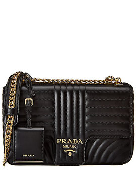 Prada Large Diagramme Leather Shoulder Bag by Prada