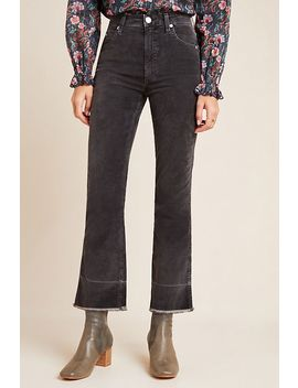 Amo Bella High Rise Cropped Velvet Flare Jeans by Amo