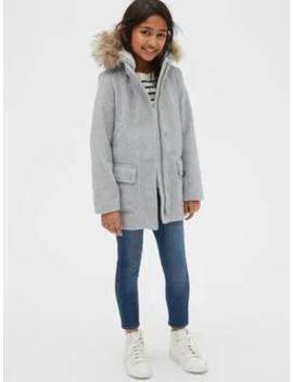 Kids Wool Blend Duffle Coat by Gap