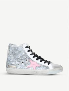 Francy Glitter High Top Trainers by Golden Goose