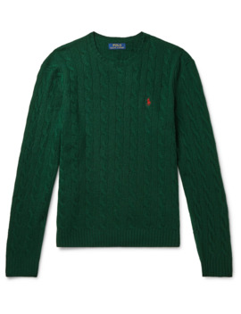 Cable Knit Cashmere And Wool Blend Sweater by Polo Ralph Lauren