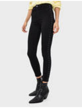 Trousers With Studded Taping by Bershka