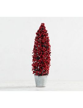 Faux Potted Cranberry Cone Tree by Pottery Barn