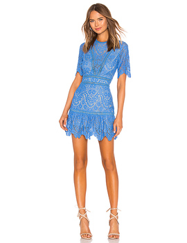 Darian Dress In Blue by Saylor