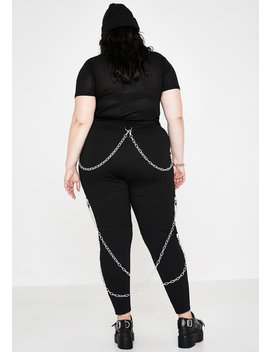 Such Tragic Irony Chained Leggings by Current Mood