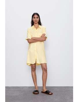 Long Satin Shirt by Zara