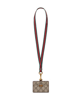 Ophidia Gg Supreme Card Case With Lanyard by Gucci
