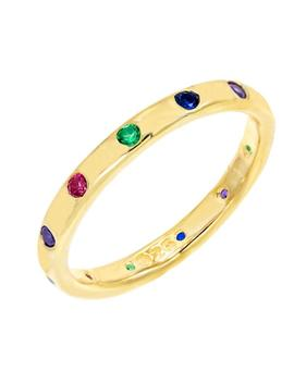 Multi Color Stone Ring by Adina's Jewels