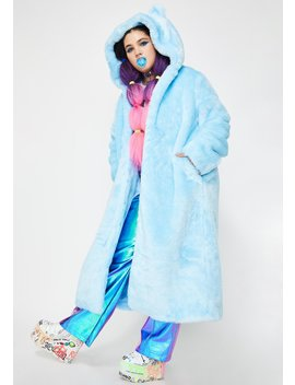 Fierce Polar Babe Faux Fur Coat by Club Exx