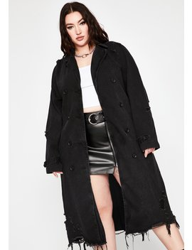 Mz. Forever Heartbreaker Distressed Coat by Dolls Kill