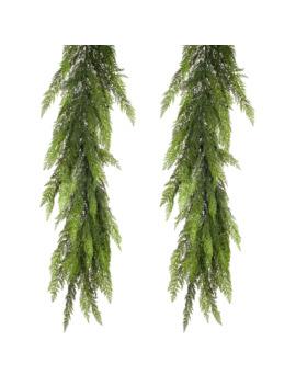7ft Green Cedar Garland Set by Null