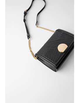 Crossbody Bag With Plaque by Zara