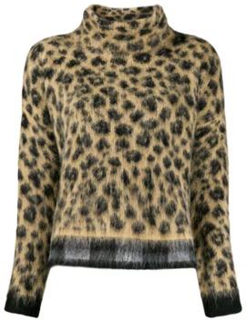 Loose Fit Leopard Jumper by Liu Jo