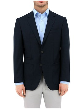 Basketweave Lined Patch Jacket by Daniel Hechter