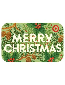 Merry Christmas Foliage Gift Card by Target