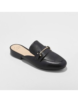 Women's Remmy Backless Loafers   A New Day™ Black by A New Day