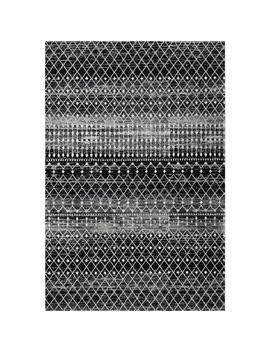 Blythe Moroccan Transitional Black 3 Ft. X 5 Ft. Area Rug by Nu Loom