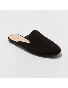Women's Mabel Microsuede Square Toe Mules   A New Day™ by A New Day