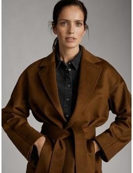 100% Cashmere Round Neck Sweater by Massimo Dutti