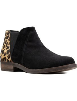 Demi Beat Genuine Calf Hair & Suede Chelsea Boot by Clarks