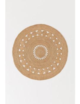 Кръгъл килим от юта by H&M