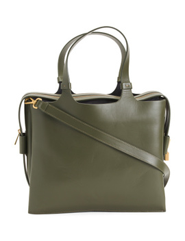 Made In Italy Leather Satchel by Tj Maxx