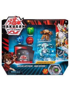 Bakugan Battle Pack 5 Pack Aurelus Lupitheon And Haos Vicerox Collectible Cards And Figures by Bakugan