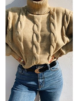 Oh My Cozy Crop Sweater   Nude by Miss Lola