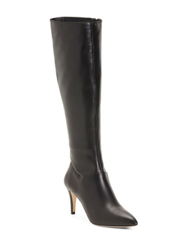 Made In Italy Pointy Toe Leather Boots by Tj Maxx
