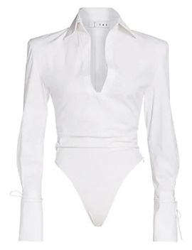 Poplin Blouse Bodysuit by Tre By Natalie Ratabesi