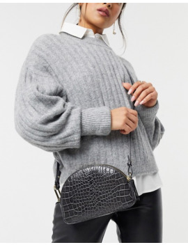 & Other Stories Mock Croc Leather Mini Bag In Grey by & Other Stories