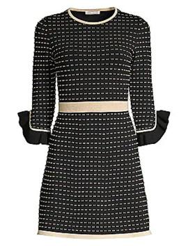Claira Ruffle Trim Tweed A Line Dress by Shoshanna