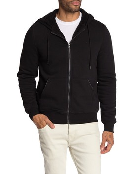 Faux Shearling Lined Hoodie by Michael Kors