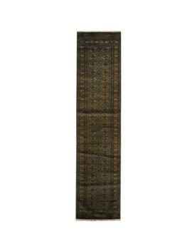 Handmade Bokhara Wool Runner (Pakistan)   2'6 X 10'6 by Herat Oriental