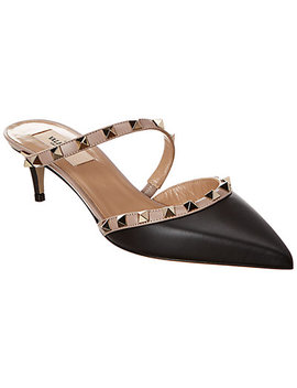 Valentino Rockstud Hype 50 Leather Mule by Valentino