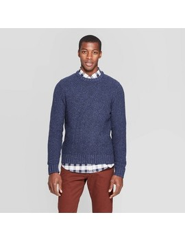 Men's Standard Fit Crew Neck Nep Sweater   Goodfellow & Co™ by Goodfellow & Co