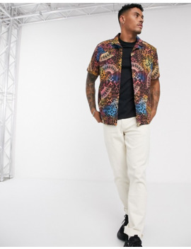 Asos Design Relaxed Fit Shirt In Tropical Geo Tribal Print by Asos Design