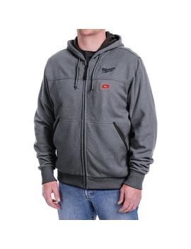 Men's Large M12 12 Volt Lithium Ion Cordless Gray Heated Hoodie (Hoodie Only) by Milwaukee