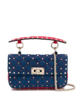 Denim Valentino Garavani Rockstud Spike.It Shoulder Bag by Valentino