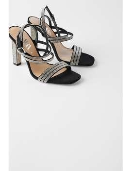 Sandaaltjes Met Hak En Stras by Zara