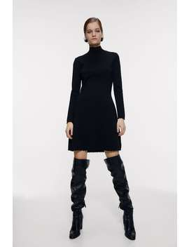 High Neck Mini Dress Dresses Knitwear Woman by Zara