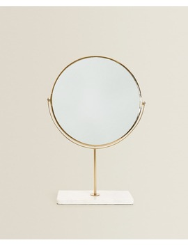Standup Mirror With Marble Base   Dining by Zara Home